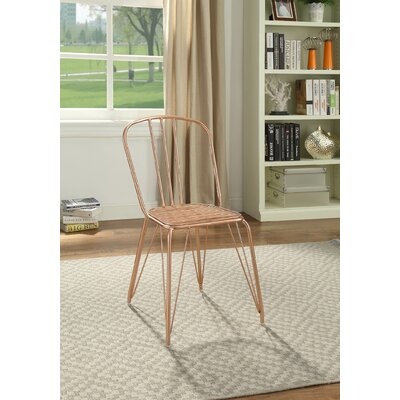 Galarza Upholstered Dining Chair Color: Rose Gold