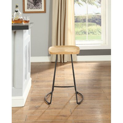 Yunisber Bar Stool Color: Natural/Black