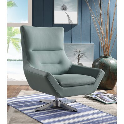 Boerger Swivel Armchair Upholstery: Stone Gray