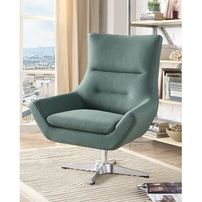Boerger Swivel Armchair Upholstery: Green