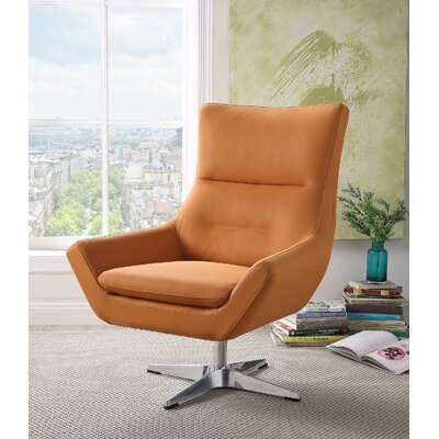 Boerger Swivel Armchair Upholstery: Orange