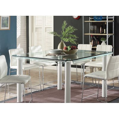 Len Counter Height Dining Table Base Color: White