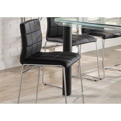Len Upholstered Dining Chair Upholstery Color: Chrome/Black