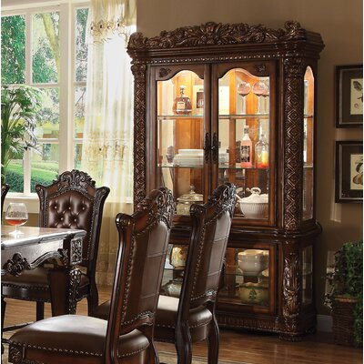 Welles Lighted Curio Cabinet