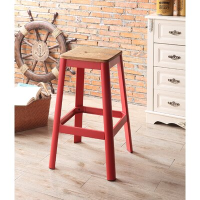 Mee 30 Bar Stool Color: Red