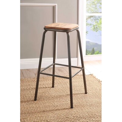 Ling 30 Bar Stool Color: Gunmetal