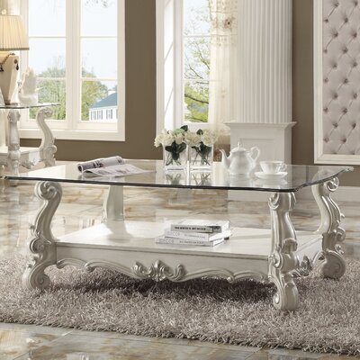 Welton Traditional Coffee Table Color: Bone White