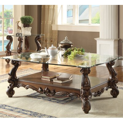 Welton Traditional Coffee Table Color: Cherry Oak