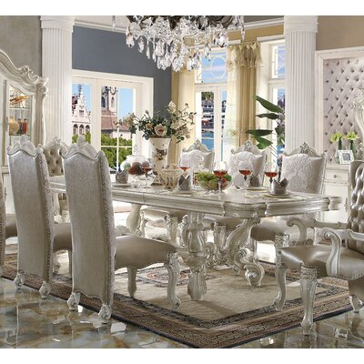 Welton Extendable Dining Table Color: Bone White
