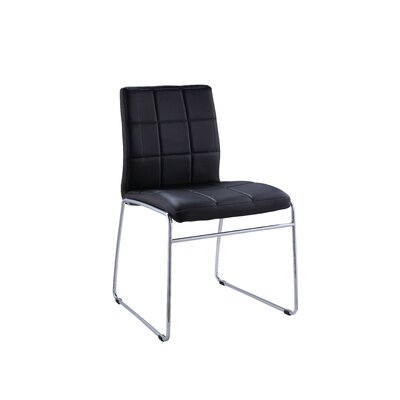 Len Upholstered Dining Chair Upholstery: Black