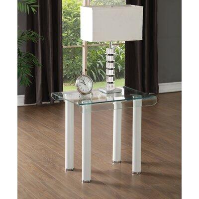 Len End Table Base Color: White