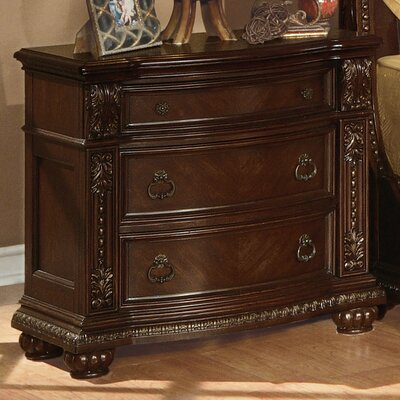 Wentz 3 Drawer Nightstand