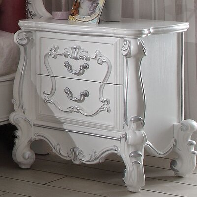 Clara Traditional 2 Drawer Nightstand