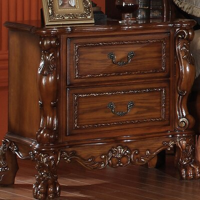 Welliver 2 Drawer Nightstand Color: Cherry Oak