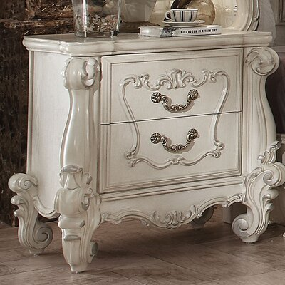 Welton 2 Drawer Nightstand Color: Bone White