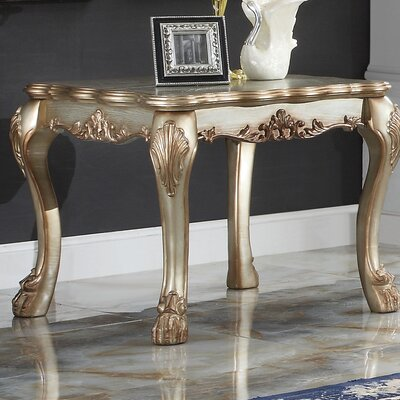 Welliver Traditional End Table Color: Gold Patina