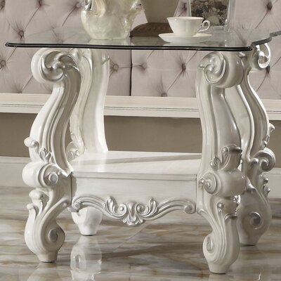 Welton Traditional End Table Color: Bone White