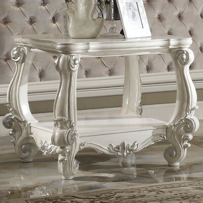 Welton End Table Color: Bone White