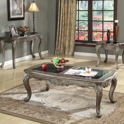 Wensley 3 Piece Coffee Table Set