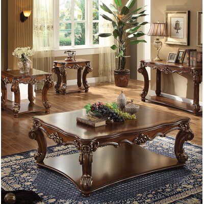 Welles Traditional 4 Piece Coffee Table Set