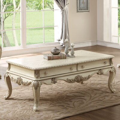 Welling Coffee Table Color: Antique White