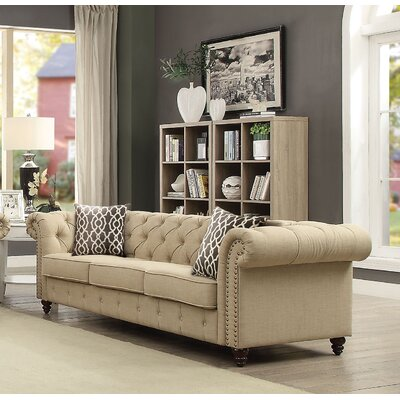 Irenee Sofa with Pillow Upholstery: Beige
