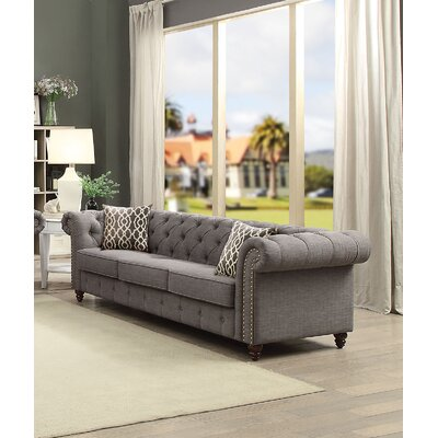 Irenee Sofa with Pillow Upholstery: Gray