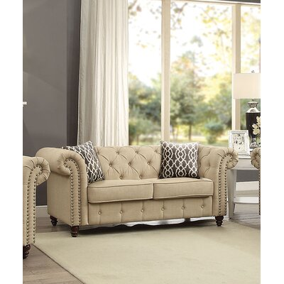 Irenee Loveseat with Pillow Upholstery: Beige