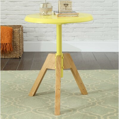 Oleson End Table Table Top Color: Yellow