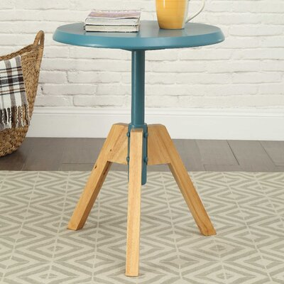 Oleson End Table Table Top Color: Teal