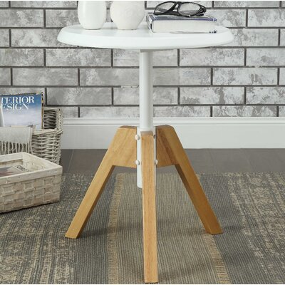 Oleson End Table Table Top Color: White