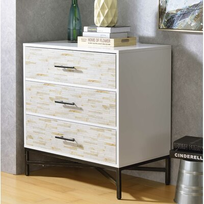 Pawlowski 3 Drawer Nightstand