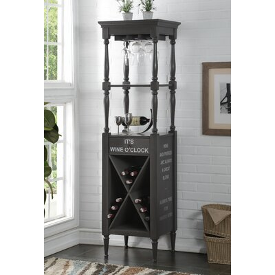 Prejean 12 Bottle Floor Wine Rack Color: Antique Gray
