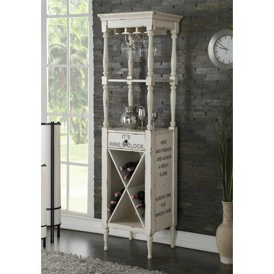 Prejean 12 Bottle Floor Wine Rack Color: Antique White