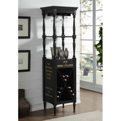 Prejean 12 Bottle Floor Wine Rack Color: Antique Black