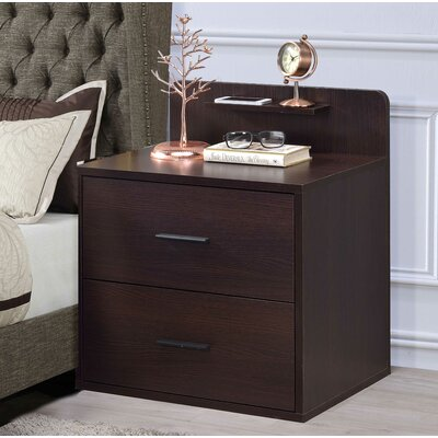 Tilford 2 Drawer Nightstand