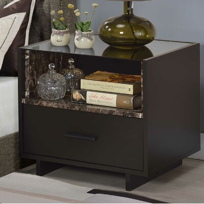 Bertram 1 Drawer Nightstand
