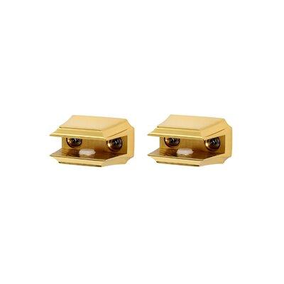 Geometric Shelf Brackets Only Finish: Polished Brass