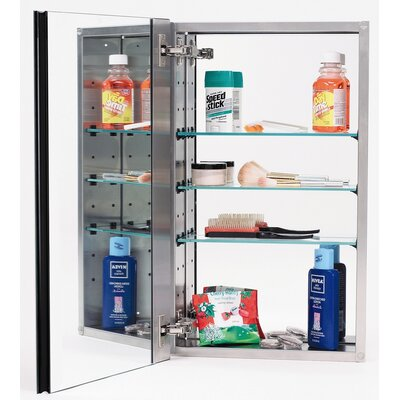 15 x 25 Recessed Medicine Cabinet Finish: Stainless Steel