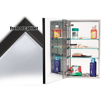 15 x 25 Recessed Medicine Cabinet Finish: Bronze