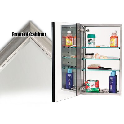 15 x 25 Recessed Medicine Cabinet Finish: Satin Nickel