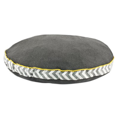 """Round Pet Bed with Zig Zag Band and Top Cording Size: 53"""" L x 53"""" W"""