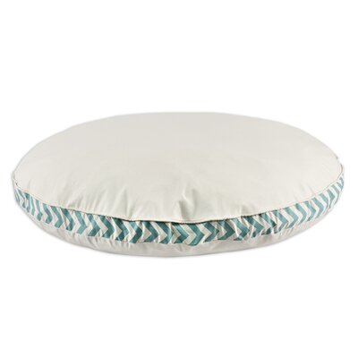 """Saxony Round Pet Bed with Zig Zag Band and Top Cording Size: 53"""" L x 53"""" W"""
