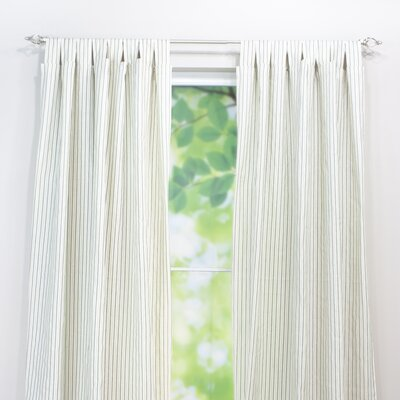 "Chooty & Co Dublin Stripe Linen Tab Top Curtain Single Panel (Set of 2) - Size: 96"" H x 54"" W x 0.25"" D at Sears.com"