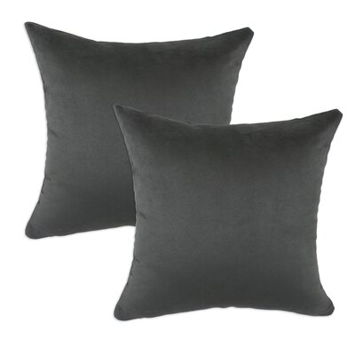 Chooty & Co Passion Suede Polyester Pillow (Set of 2) - Color: Grey at Sears.com