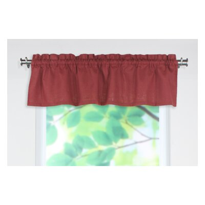 "Chooty & Co Circa Solid Rod Pocket Tailored 54"" Curtain Valance - Color: Lava at Sears.com"