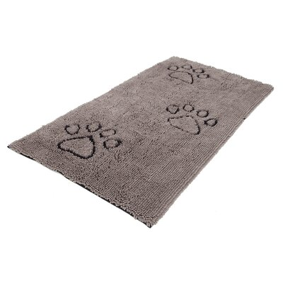 Dirty Dog Mat Size: Large (35 W x  26 D), Color: Gray