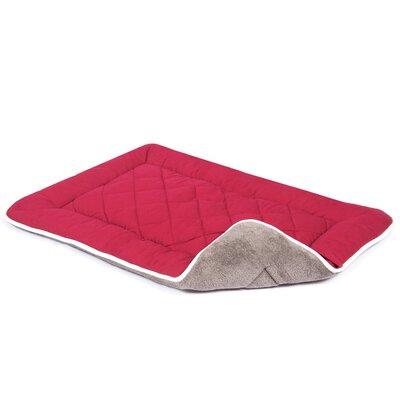 Anastasia Sleeper Dog Mat Size: Extra Small (20 W x 15 D), Color: Berry