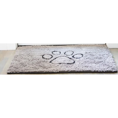 Dirty Dog Mat Size: 31 L x 20 W x 2 D, Color: Gray