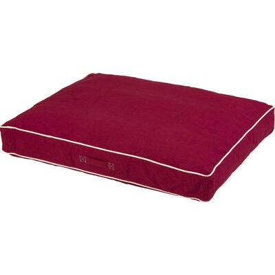 Repelz-It Canvas Dog Bed Color: Berry, Size: Extra Large (48 L x 36 W)